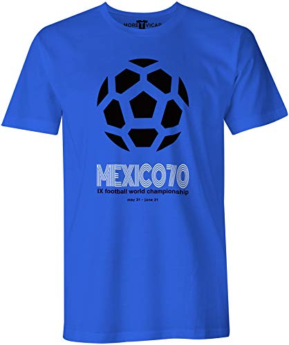 More T Vicar Retro Pique Mexico 86 Football Coupe du Monde Homme T-Shirt
