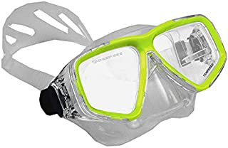 Deep See Clarity Silicone Mask - Yellow Great for Scuba Divers and Water Sports