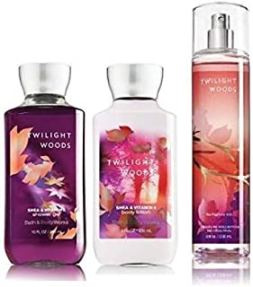 Bath & Body Works Works, Twilight Woods Set, Shower Gel, Body Lotion, Fragrance Mist 10 oz