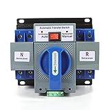 Interruttore automatico per trasferimento di potenza, con doppia alimentazione, interruttore di trasferimento automatico, 220 V, 63 A, 2P