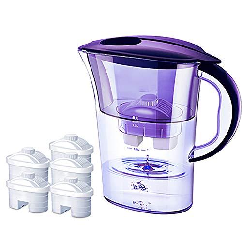 Portable Water Filter, High Precision Filtering Zero Noise Net Kettle 2.5L Capaciteit Geschikt voor Keuken Kantoor,Purple m