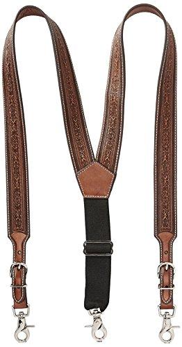 Nocona Belt Co. Men's Detail Tool Leather Suspender