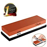 BearMoo Whetstone Premium 2-IN-1 Sharpening Stone 3000/8000 Grit Waterstone Kit - Knife Sharpener...
