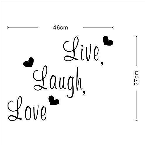Live Laugh Love Zitat Wandaufkleber Künstler Home Decor Decal Zitate Zitate und Sätze Wandaufkleber Wallpaper