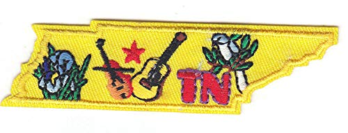 TENNESSEE STATE SHAPE PATCH Iron On Patch