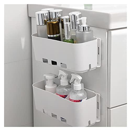 Estantes flotantes Estante de almacenamiento de placa de almacenamiento Cocina de baño Montado en la pared Evite la caja de almacenamiento de perforación Caja de almacenamiento lateral de la colgadura