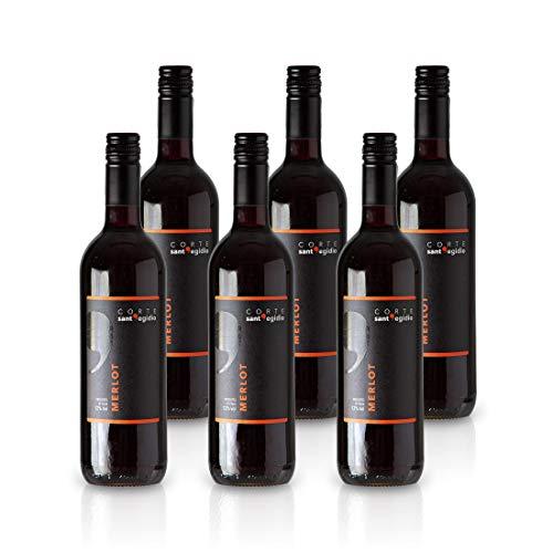 Merlot Veneto IGP 2018 - Corte sant'Egidio - Rotwein (trocken) aus Italien (6 x 0,75L)