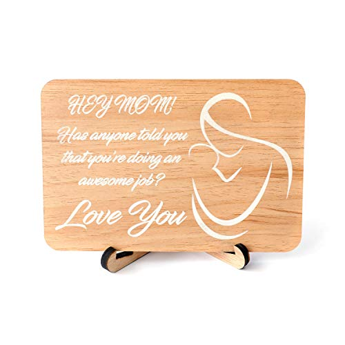 Wooden Mothers Day Card Mom Greeting Card for Mother Gift Best Mom Ever Wood Card For Mom, Mother's Day Card, Gift For Mom, The Best Mom, I Love You Mom, Birthday Card For Mom, Grandma Card