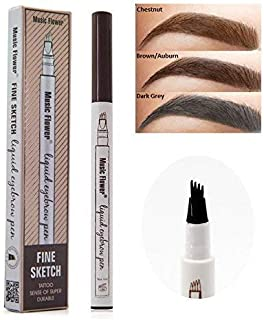 Eyebrow Tattoo Pen Microblading Eyebrow Pencil with a Micro-Fork Tip Applicator Creates Natural Looking Brows Effortlessly and Stays on All Day(2 pc/set,Reddish Brown) (Reddish Brown)