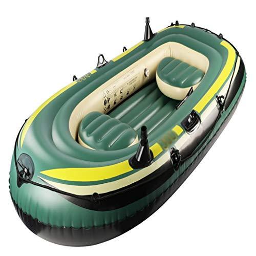 Ljf Bateau pneumatique, Bateau à la dérive épais pour 3 Personnes, Yacht de Plaisance, Bateau de pêche Gonflable, Bateau de pêche Gonflable Taille: 230 * 130cm (Color : 3926909090)
