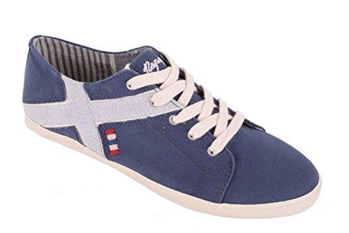 Napapijri Zapatilla Deportiva de Mujer Zapatos de Cordones Sara Azul Oscuro - Azul Marino, 38EU