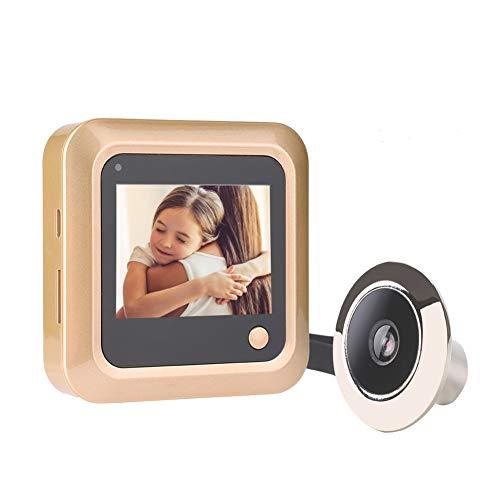 Intelligente deurbel, slimme videodeurbel draadloze bewakingscamera visueel met 145 graden groothoek, 2,4 inch HD-scherm voor binnenmonitor, voor beveiliging thuis