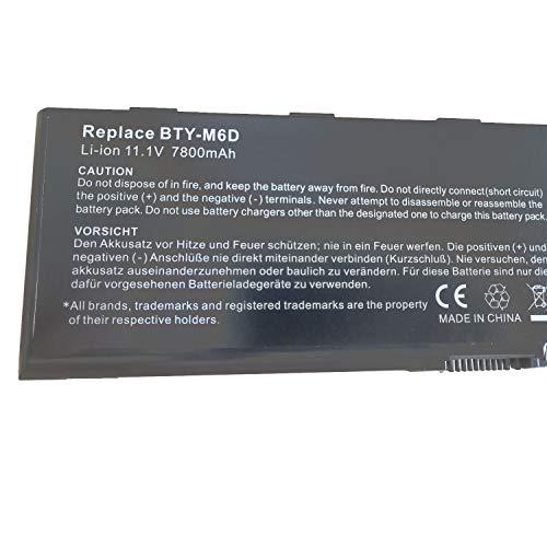 BTY-M6D Reemplazo de la batería del portátil para MSI GX60 GT60 T70 GT70 GX660 GT660 GT680 GX70 GT660-003US GT660R-494US GT660-004CA GT660-448PL GT780 GT780R 0NC-007 E6603 E6603-454(11.1V 7800mAh)