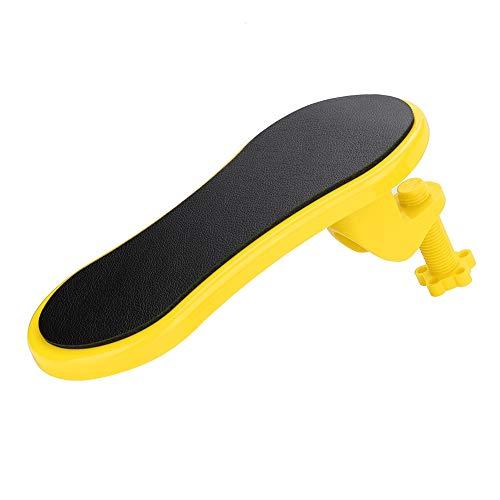 Wendry Computerhandhouder, ergonomische handhouder voor op de tafel, polsbescherming, muismat, houder voor armleuningen, ergonomisch ontworpen, geel