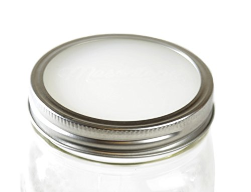 Masontops Sili-Seals - Premium Reuseable Mason Jar Silicone Seals Disc Gasket Lids for Mason, Ball Kerr Canning Storage Jars - 12 Pack Wide Mouth
