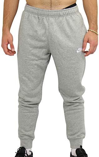 NIKE M NSW Club Jggr Ft Pantalones de Deporte, Hombre, dk Grey Heather/Matte Silver/White