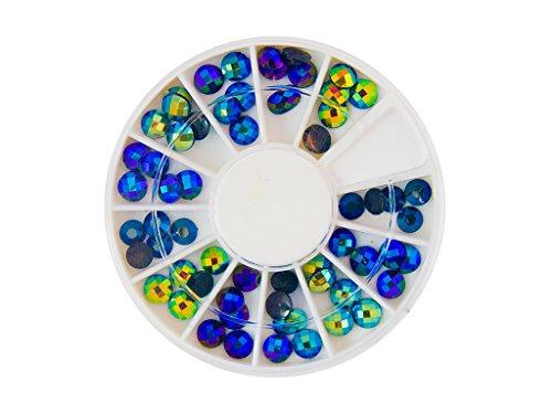Plafonnier Arc-en-ciel strass ronds de pierres de strass avec décoration en cristal Rhinestones Nail Art