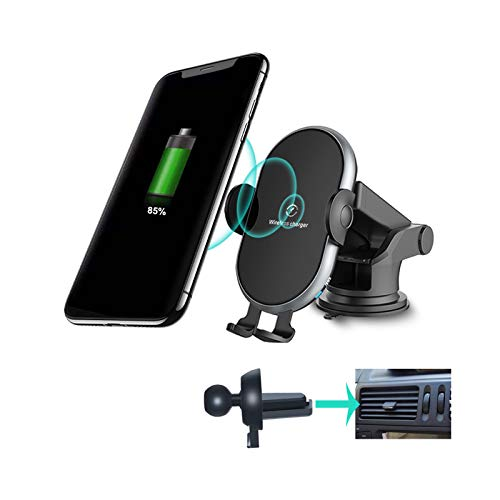Wireless Car Charger Mount-10W Qi Fast Charging Auto-Clamping- Windshield Dashboard Air Vent...
