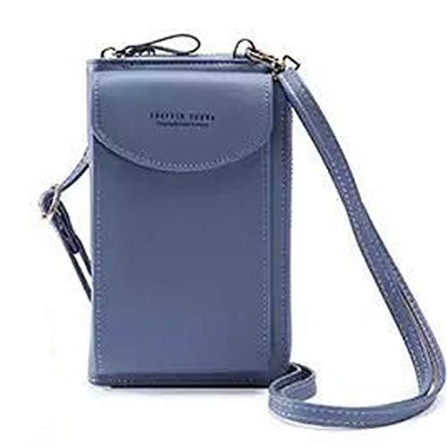 RAYPOW Forever Young Kleine Crossbody Tasche Lichtblau · Handytasche Brieftasche mit Credit Card Slots für Frauen