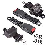 10L0L Universal Retractable Golf Cart Seat Belts 42' for EZGO Yamaha Club Car 2 Sets