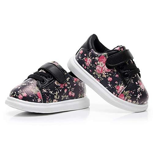 WXX Baby Shoes Sveglio Bambino Molle Mocassini Fiore Rosa Sneakers Sport Scarpe, Scarpe: 18 (Rosa) (Color : Black)
