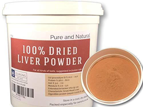 Ourons 500 gms de Polvo puro de hígado, Ingrediente de atrayente para Cebo de pesca