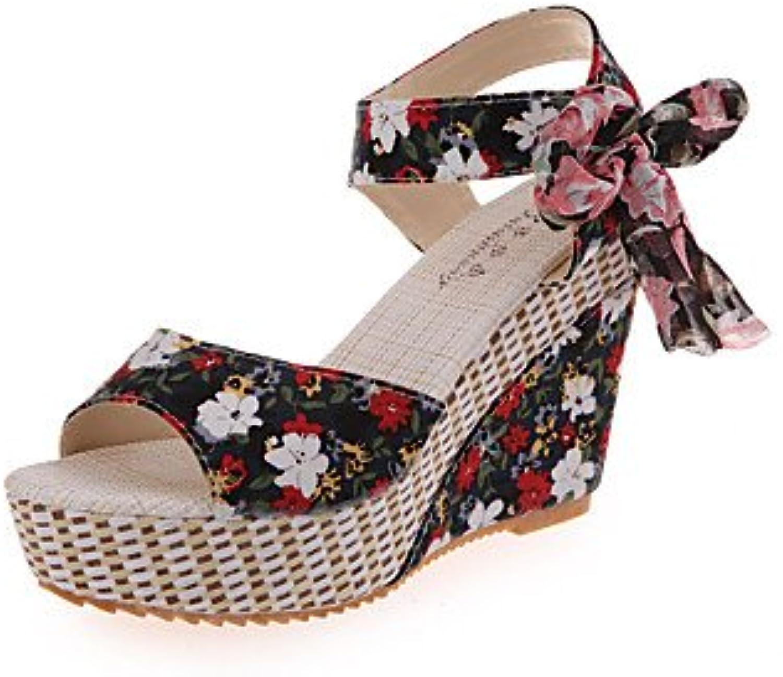 Modern fashion sandals Heels Spring Comfort PU Casual Flat Heel Others Black blueee Red