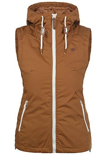 DESIRES Tilda Damen Weste Outdoor-Weste Mit Kapuze Und Stehkragen, Größe:L, Farbe:Cinnamon (5056)