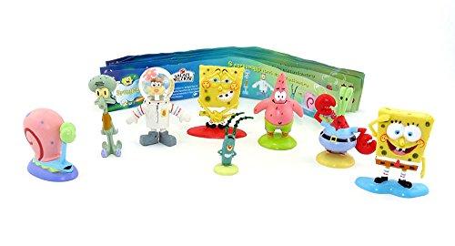 Kinder Überraschung 8 Spongebob Figuren von Dolci Preziosi Collection 2009 Plus 1 Beipackzettel (Bikini Bottom Spongebob)