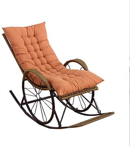 Tumbona plegable de mimbre, silla mecedora para el hogar, para adultos, silla de ancianos, silla fácil de siesta, silla de balcón, silla de salón, silla perezosa (color: A)-D