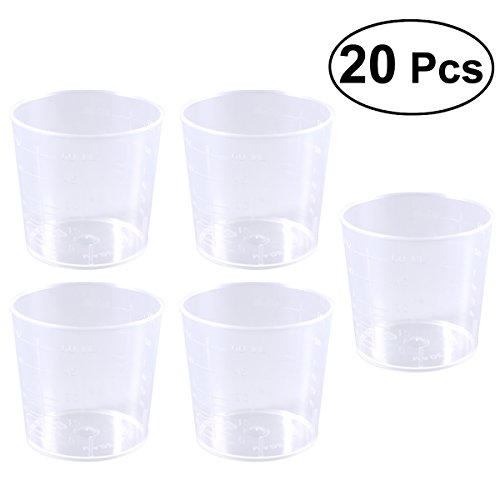 ULTNICE Paint Mixing Cups Plastic Measuring Cups Beaker Lab Cooking Liquid Container