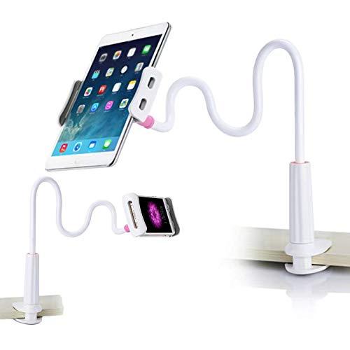 Soporte para teléfono celular, soporte para tableta, soporte universal para teléfono móvil, soporte flexible con cuello de cisne y brazos largos para , 11 Pro Xs Max XR X 8 7 6 Plus- color blanco