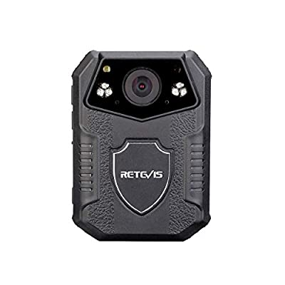 Retevis RT77 Body Camera with 2 Inch Display, IP54 Waterproof and Night Vision, Police Body Camera for Law Enforcement Wearable(Black,1 Pack) by Retevis