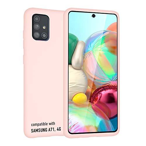 smartect Cover in Silicone per Samsung Galaxy A71 - Aderenza Perfetta - Superficie Morbida Antiscivolo - Linee Interne Morbide - Case Silicone Rosa