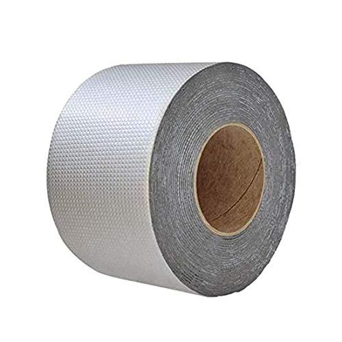 2020 Neues Starke Qualität wasserdichtes Klebeband Butylkautschuk Aluminiumfolie Tape, wasserdichtes Klebeversiegelung für Rohr Glas Boden Dach Fenster Wand (10cm*5m)