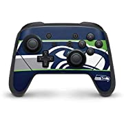 Ultra-Thin, Lightweight Nintendo Switch Pro Controller Vinyl Decal Protection Officially Licensed NFL Design Industry Leading Vivid Color Vinyl Print Technology on your Seattle Seahawks Zone Block skin Scratch - Resistant. Built To Last Everday Ninte...