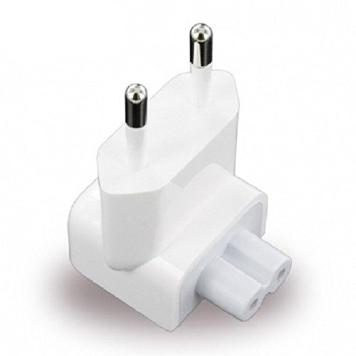 Lukzer 2 pins Indian /Euro Style Plug Adapter for Apple Pro, Air, iPod, MacBook, Powerbook, iPhone, iPad, iBook