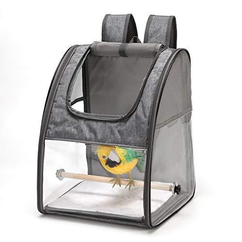 HMMJ Vogel-Fördermaschine-Rucksack, Vogel Rucksack-Fördermaschine mit Vogel-Standplatz-Stick Tragbare, Folienbehälter for einfache Reinigung (Color : Gray)