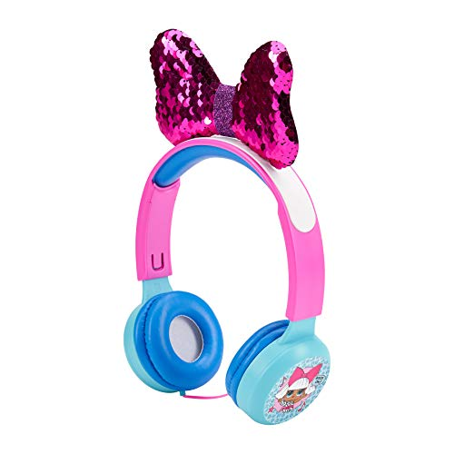 L.O.L. Surprise! HP2-13136 L.O.L Surprise Kid Friendly Over The Ear Headphone with Volume Limiter, Great Sound, 3. 5mm Auxiliary Input, Fun and Vibrant Design, Pink