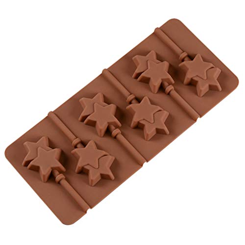 6 holte ster Lollipop schimmel chocolade snoep Lollipop schimmel, chocolade snoep schimmel, Cake Jelly Cake Cupcake Tops koekjes bakken schimmel