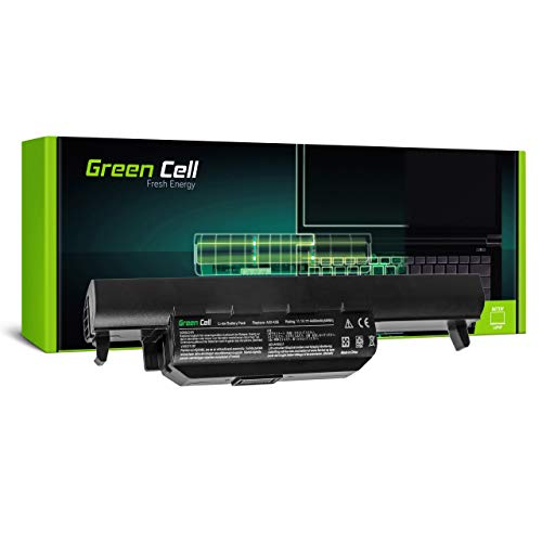 Green Cell Batería para ASUS F45V F45VD F45VD1 F55 F55A F55C F55CR F55U F55V F55VD F55VDR F75 F75A F75A1 F75V F75VB F75VC F75VD F75VD1 K45 K45A K45D Portátil (4400mAh 10.8V Negro)