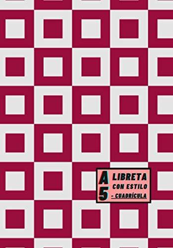 Libreta A5 Con Estilo - Cuadrícula: Color de portada Rojo Granate -...