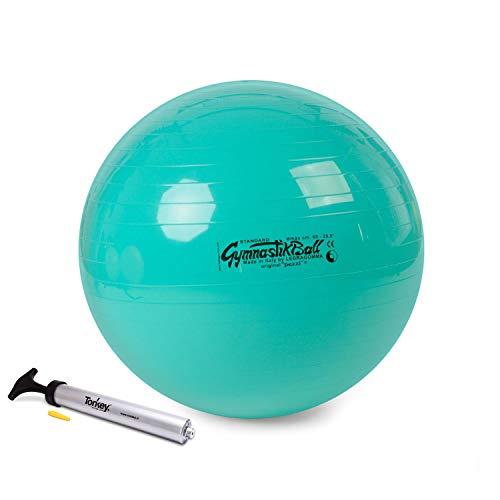 Ledragomma Pezzi Ball Standard 65 cm grün Gymnastikball Sitzball inkl. Original Pezziball Pumpe