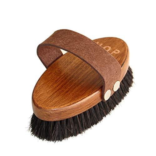 Puyong Cepillo de Perro, Cepillo para Perros fácil de Limpiar, Cepillo de baño de Mascotas Premium para Mascotas de Pelo Corto Largo, bambú Natural