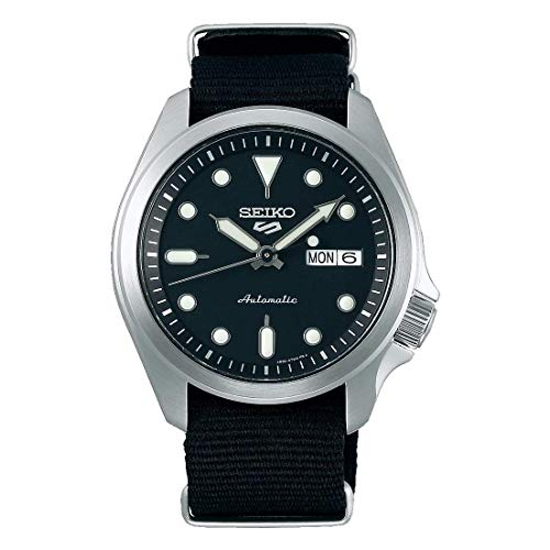 Seiko Herren Analog Automatik Uhr mit Nylon Armband SRPE67K1