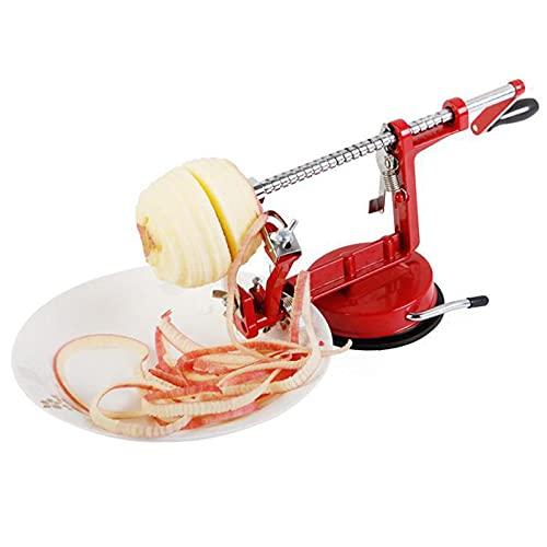Peeler Slicer, 3 In 1 Stainless Steel Potato Swivel Corer, Vegetable Fruit Spiralizer Cutter Peeling Machine Durable Heavy Duty Magnesium Alloy