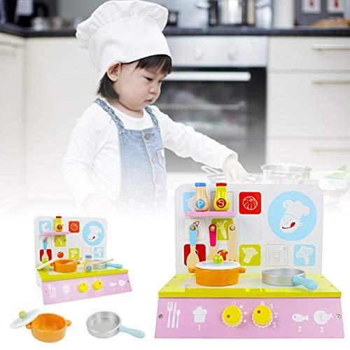 Erfula Juego De Juguetes De Cocina Madera Para Niños Juego De Simulación Cocina De Juguete Con Accesorios De Utensilios Cocina Juego De Comida Para Cocinar Mini, Niños Jugar A Cocina Para everybody