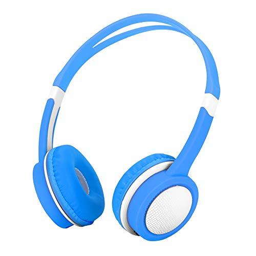 Bewinner-hoofdtelefoon voor kinderen - Hoofd-koptelefoon voor kinderen - 85 decibel voor gehoorbescherming - Automatische volumebegrenzer - Voor kinderen van 4 tot 12 jaar (blauw)