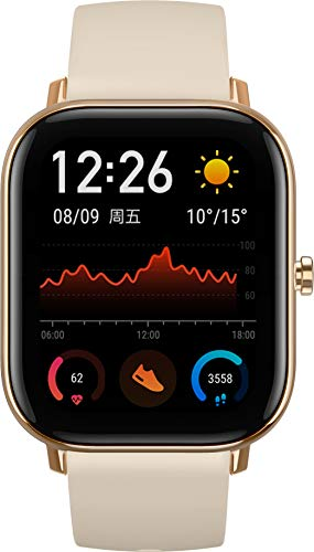 Amazfit GTS Smartwatch - mit Herzfrequenz-Messung, AMOLED-Display, Gorilla Glass 3 - 5ATM wasserdicht, Desert Gold