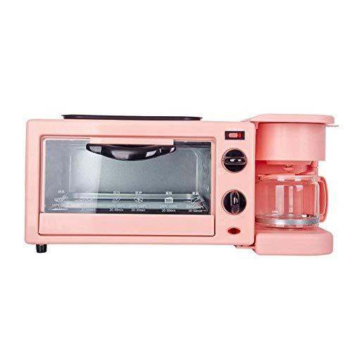 41I0rszL43L - Qinmo E-Ofen, Multifunktions-Frühstück Maschine, Non-Stick Bratpfanne Sandwich Hot Dog Toast Pizza Spiegelei Home Küche Elektro-Ofen (Farbe: Schwarz) (Farbe: Schwarz) (Größe: Pink), Größe: Rosa